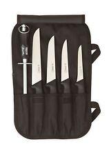 Giesser  Lehrlingsset Küchenmesser -Set 5 -tlg. mit Abziehstahl + stabile Tasche