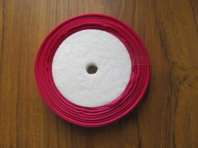 12mm satin ribbon 25yd 20m roll very good *SECONDS* shades of pink