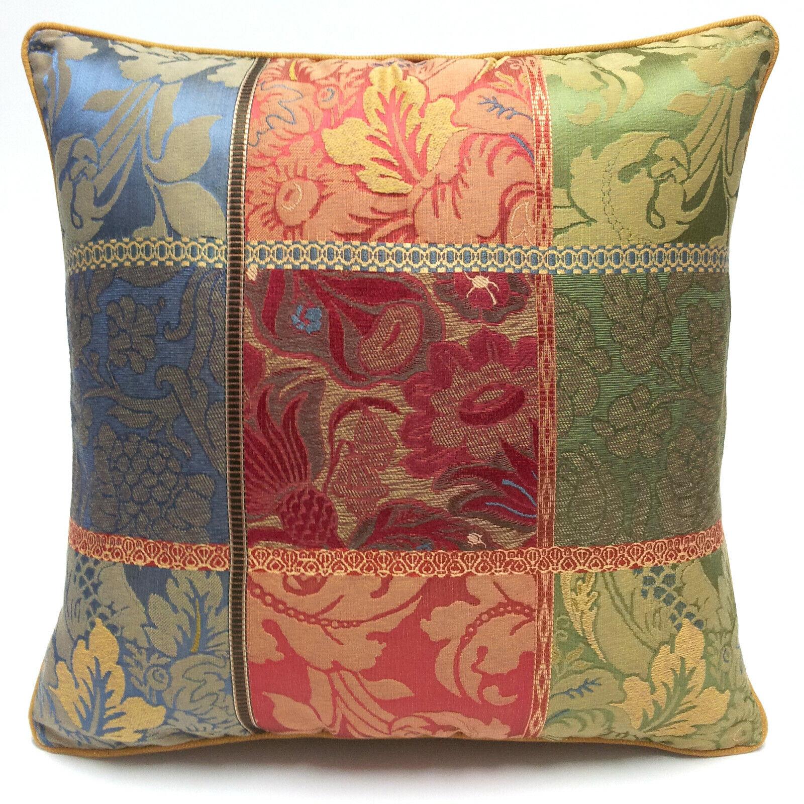 Cuscino arredo in tessuto patchwork Etro Mirabilis retro moire Rubelli [ 95]