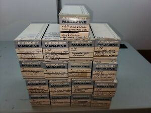 Lot Of 17 Vintage Argus Airequipt 36 2x2 Magazines w/ 500 Slides 1 DAY $$ DROP