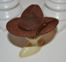 KEN DOLL BROWN FELT COWBOY HAT ~ FASHION ACCESSORY for OOAK OUTFIT OR DISPLAY