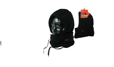 Men Ultimate Heat Control Thermal Balaclava Fleece Neck Warmer Snood Scarf Hat