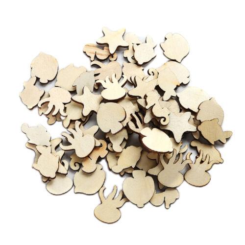 50 morceaux de bois mers Taureau holzscheiben Copeaux Bois Remorque Pour