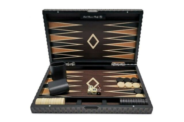 New Range - Dal Rossi 46cm Euro Style Timber Case Deluxe Backgammon Board game