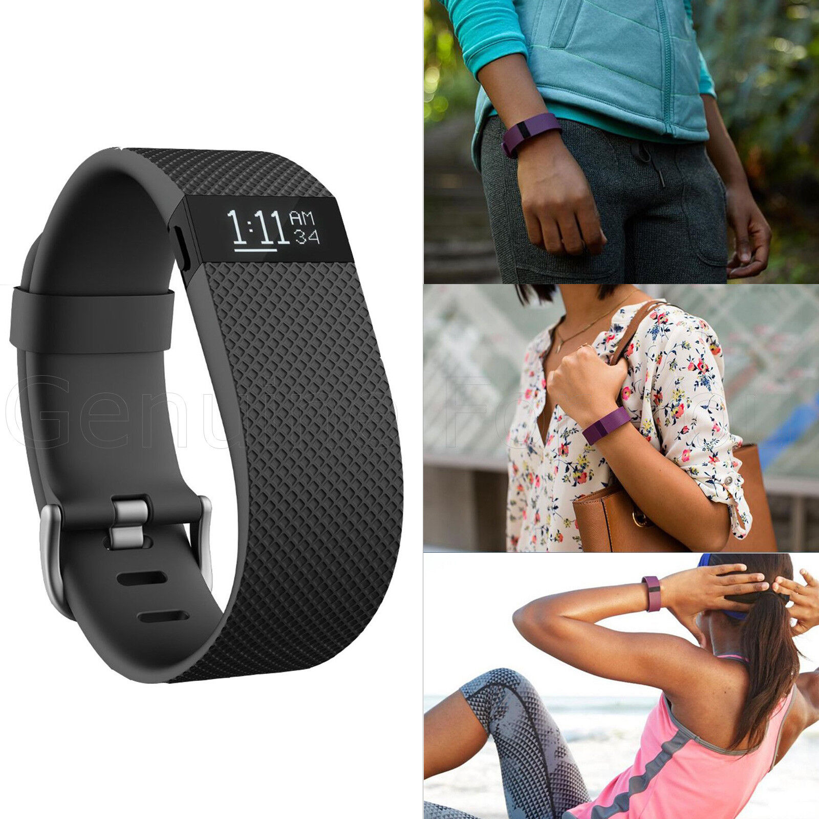 Genuine FitBit ChargeHR blueetooth Activity YOGA Fitness GYM Workout Wrist Band