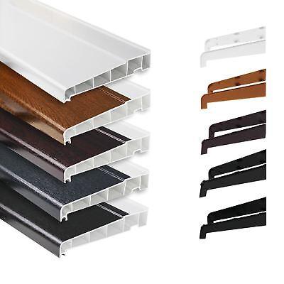 Plastic uPVC Long Leg Window Sill Cill Cover Board  2.5m Length Various Widths