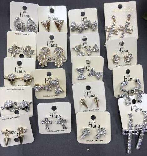 Wholesale Haute Qualité Bijoux Lot 10 Paires Cristal Strass Clous d/'oreilles