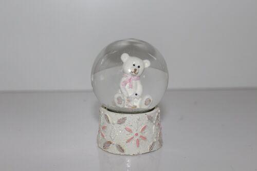 GISELA GRAHAM Pastel Teddy Mini SNOW GLOBE DOME Décoration de Noël 32682