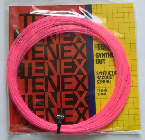 NOS GAMMA SPORTS TENEX SYNTHETIC GUT 16 GAUGE 37 FEET PINK TENNIS STRING