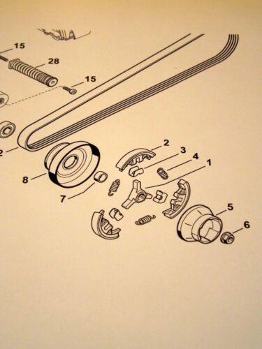 Fliehkraftkupplung Kupplungsglocke Riemenscheibe passend für Stihl TS410 TS420