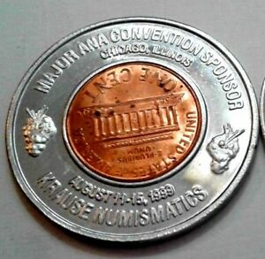 """1999 D GLENBROOK LIFE AND ANNUITY CO /"""" A Penny Saved /"""" ENCASED CENT ILLINOIS"""