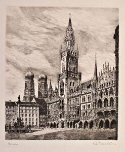 Karl Albrecht Buschbaum - München - Radierung - o. J.