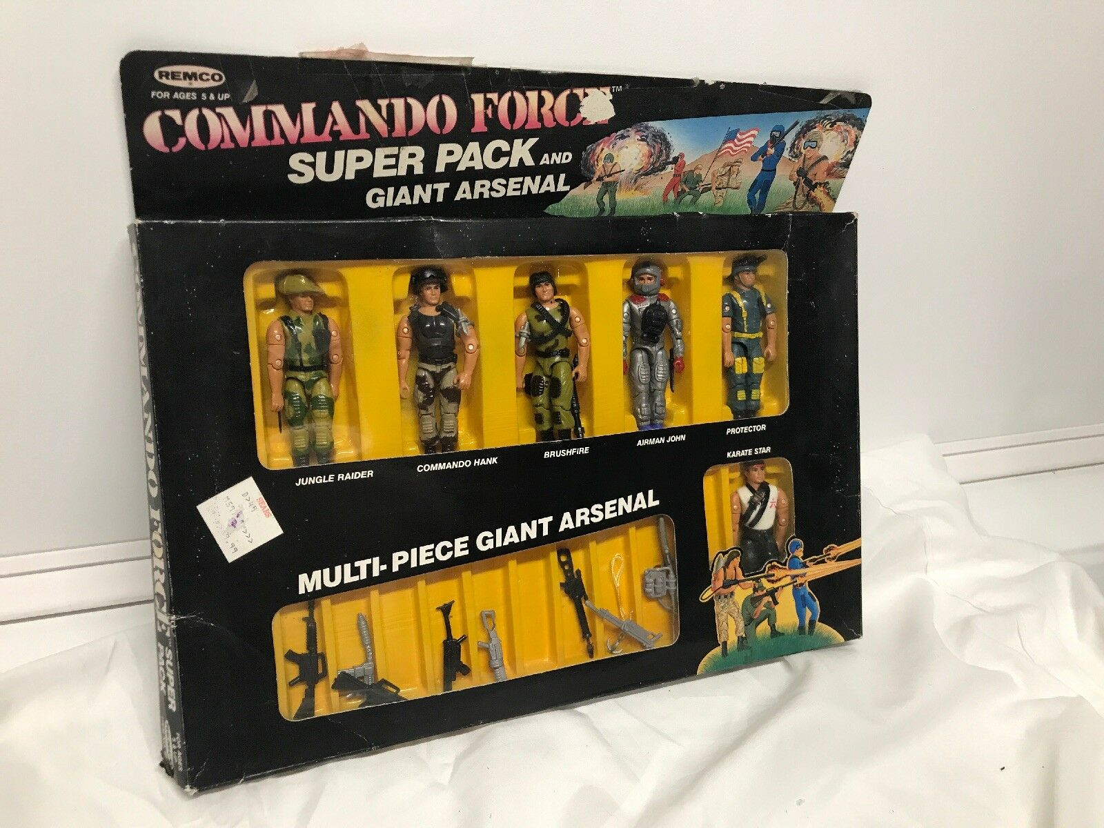 Vintage 2018 Remco Comando Force Super Pack y gigante Arsenal