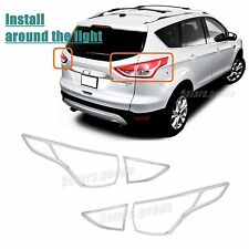 Accessories Chrome Taillight Covers Trims For Ford Escape 2013 2014 2015 2016
