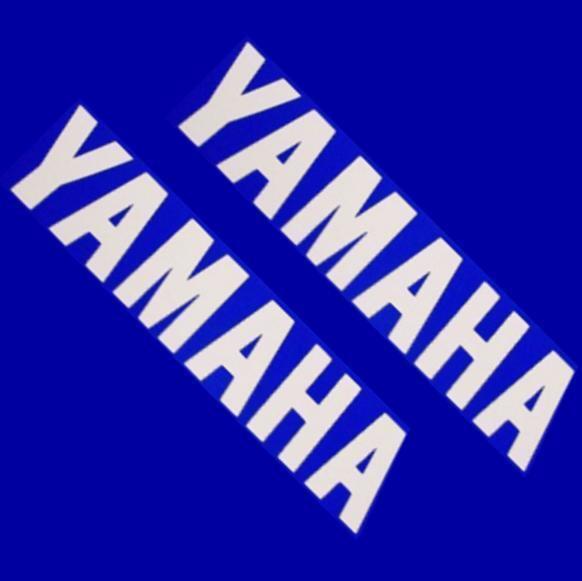 Yamaha WHITE 6.5in 16.5cm decals stickers r 6 1 zuma 3 moto gp racing keyboard