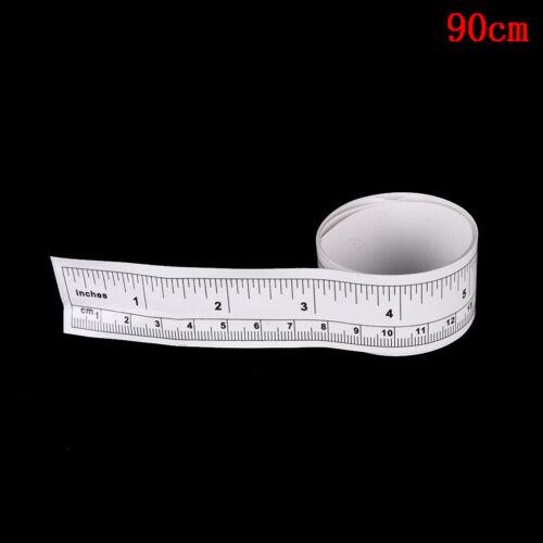 45//90cm Vinyl Metric Measure DIY Self Adhesive Measuring Tape Soft Ruler ÁÁ