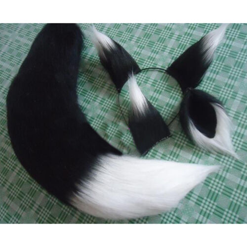 Cosplay Long Spice and Wolf Holo Fox Ears Tail Party Game Plush Anime Halloween
