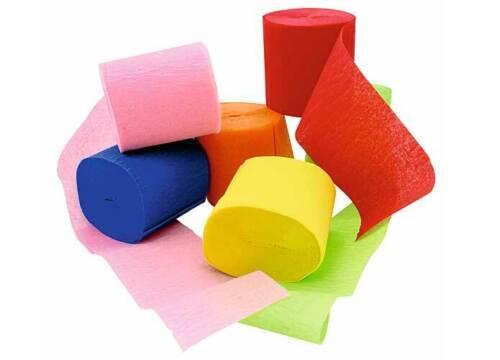 3 X Kreppband je 6 Krepprollen Deko Krepppapier Krepp Papier Seidenpapier Bänder