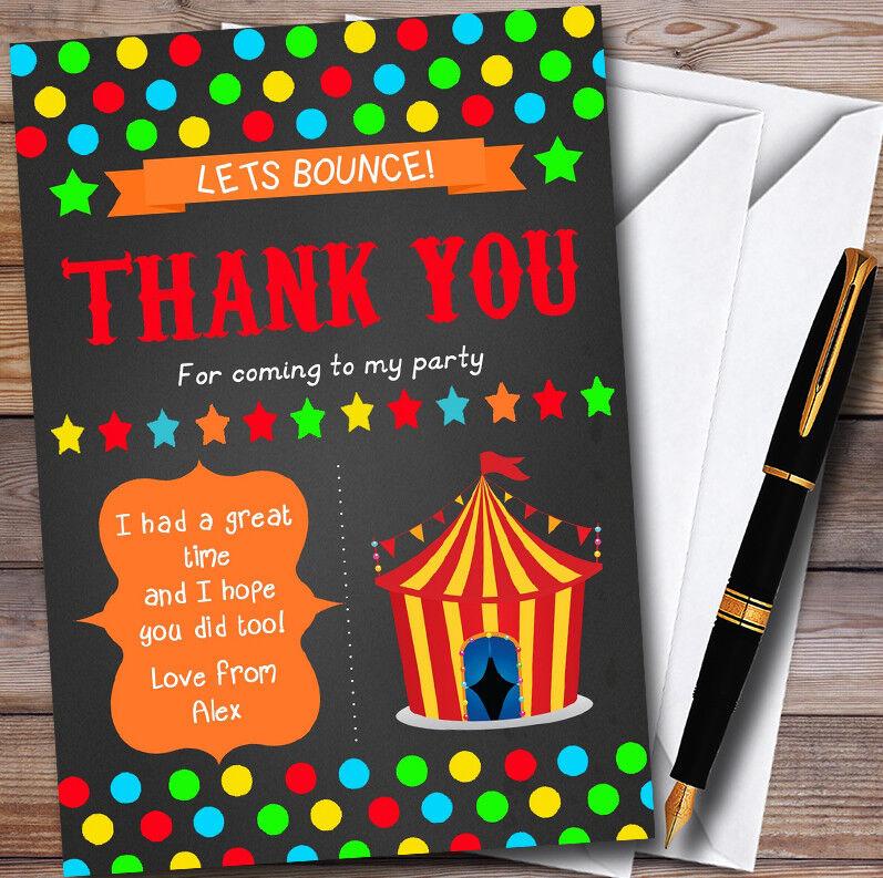 Craie Personnalisé style Cirque Personnalisé Craie  s Fête D'anniversaire THANK YOU Cartes e2fdf7