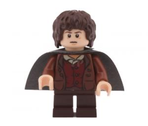 Lego-Frodo-Beutlin-9470-Dunkel-Blaeulich-Grau-Cape-Herr-der-Ringe-Minifigur