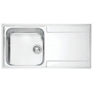 FRANKE RIGHT HAND DRAINER KITCHEN SINK STAINLESS STEEL 1-BOWL 1000 ...