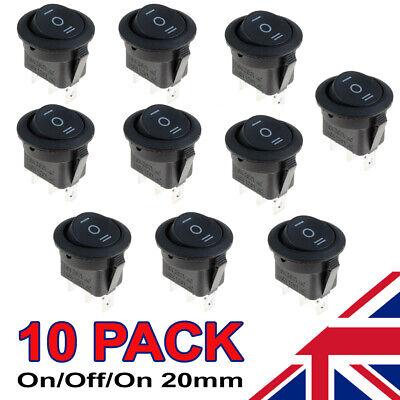 Waymeduo Black Round Rocker Switch Car Dash Light Pack of 10