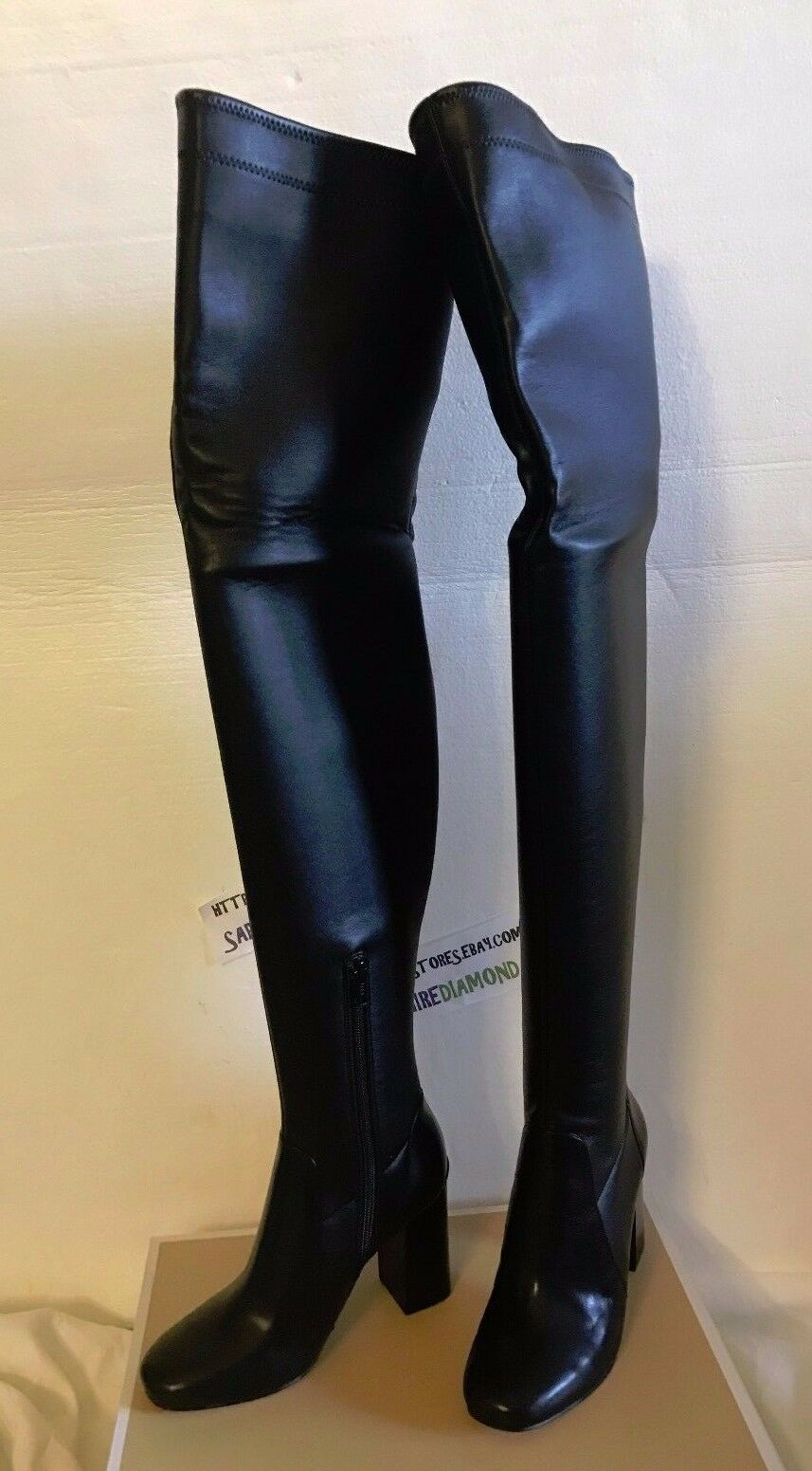 2cd2dee75b6 Michael Michael Kors Chase Over The Knee BOOTS Black Leather 5.5m ...