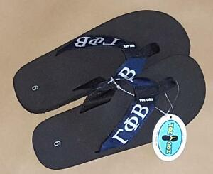 3788a494425526 Gamma Phi Beta Sorority Women s Toe Goz Collegiate Flip Flops—Size 6 ...