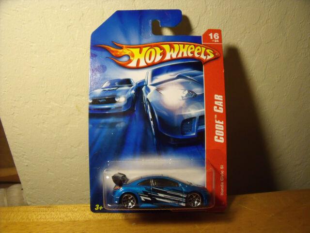 2006 Hot Wheels Code Car Honda Civic Si Mint On Card Ebay