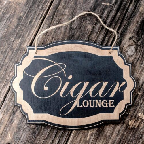 Black Door Sign 7x9.5in Cigar Lounge