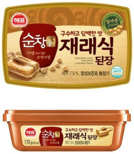 Korean Soybean Paste Doenjang 170g(6 oz) Haehyo Soybean Paste Korean Food