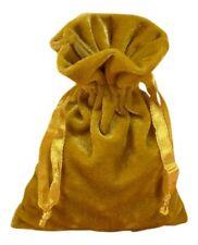 Gold Velvet Tarot Bag 6 X 9 by Paper Mart
