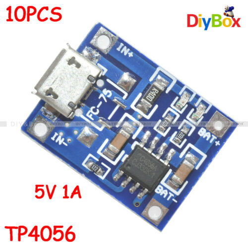 10x MICRO USB 5V 1A Lithium Battery Power Charger Module TP4056 Charging Board