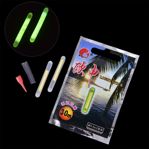 10pcs Fishing Fluorescent Lightstick Light Night Float Rod Lights Glow StickRIB