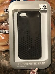 online store baf82 05faf Details about CVS BRAND Black CUSTOM-FITTED HARD IPHONE 5 PHONE CASE - NEW  IN PACKAGE