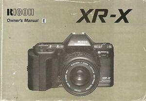 Ricoh-XR-X-Original-Instruction-Book-User-Manual-Guide-Instructions