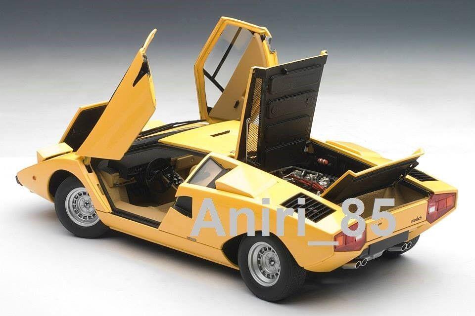 1:18 Autoart 74646 LAMBORGHINI COUNTACH lp400 1970 GIALLO giallo Nuovo & Scatola Originale Rarità