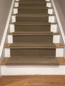 Details about Bullnose Stair Treads with Riser Set Non Skid Strip, Set of  1,2,3,7,13 and 15