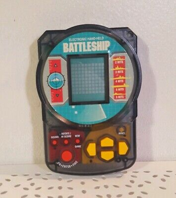 Betrouwbare Vintage Battleship Electronic Hand-held Game Travel Tested Working Clear Case Duidelijk Effect
