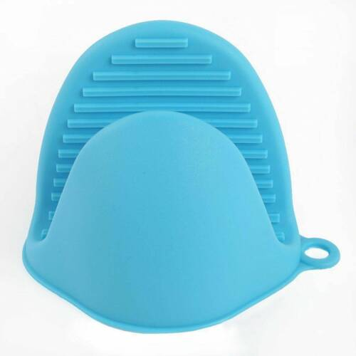 2pc Silicone Oven Gloves Heat Resistant Mini Mitt Pot Holder Cooking BBQ Kitchen