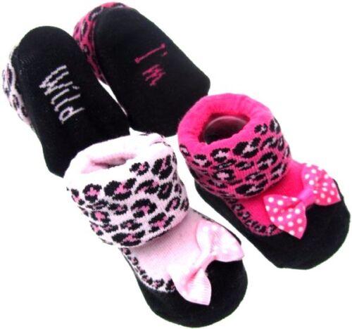 Baby calcetines Baby calcetines erstlingssocken calcetines o patucos 0-6m leopard i /'m Wild
