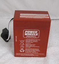 Power Wheels 00801-0712 6 volt RED BATTERY Genuine 1 year warranty