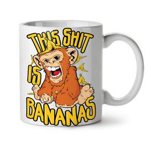 Banana Monkey Wild Animal NEW White Tea Coffee Mug 11 oz | Wellcoda