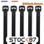 miniature 5 -  6 à 100pcs attache câble blanc noir rilsan Colson100, 200, 300 x 4,8 3,6 2,5 mm