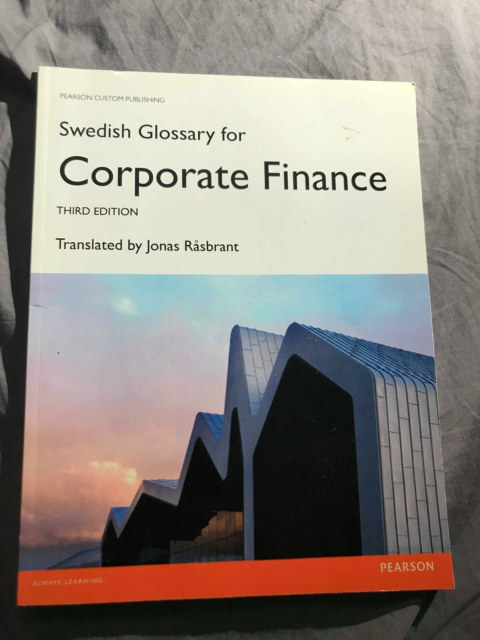 Coperate Finance , Jonas Råsbrant , år 2013, Third Edition…