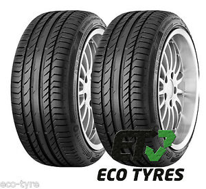 2x tyres 225 45 r17 91y continental contisportcontact 5 mo. Black Bedroom Furniture Sets. Home Design Ideas