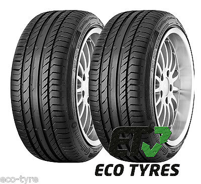 2X Tyres 225 60 R18 100H Continental ContiSportContact5 SUV E A 71dB