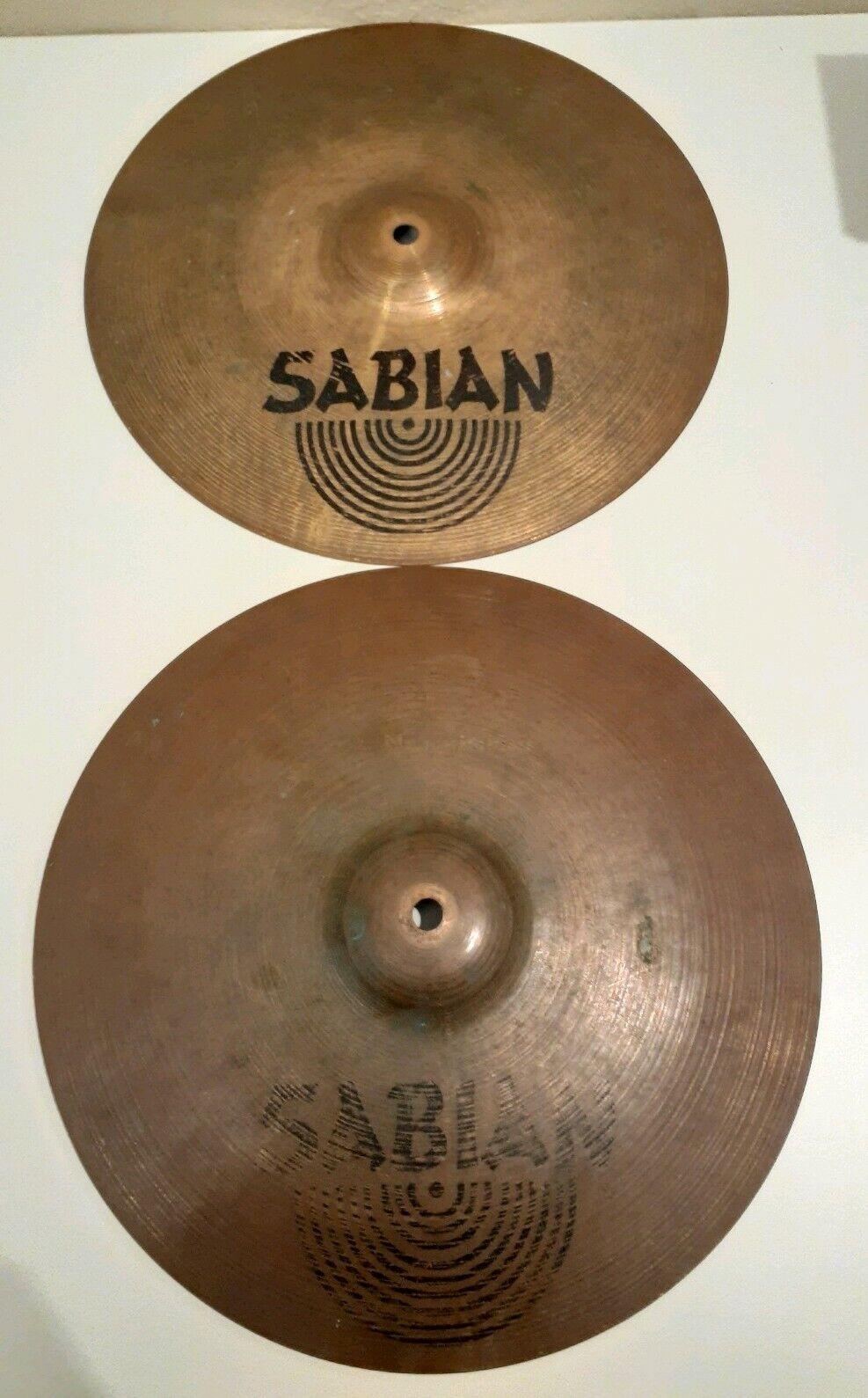 "2 Sabian B8 Pro 14"" 36cm Medium Hi Hats Cymbal"