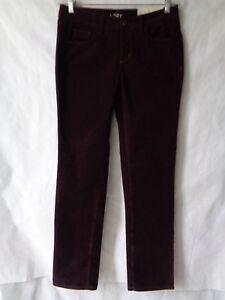 Ann-Taylor-Loft-Women-039-s-Maroon-Corduroy-Pants-Modern-Straight-Size-4-NWT