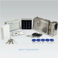 Remote Controlled Rfid Door Lock Access Control System Kit + Electric Lock